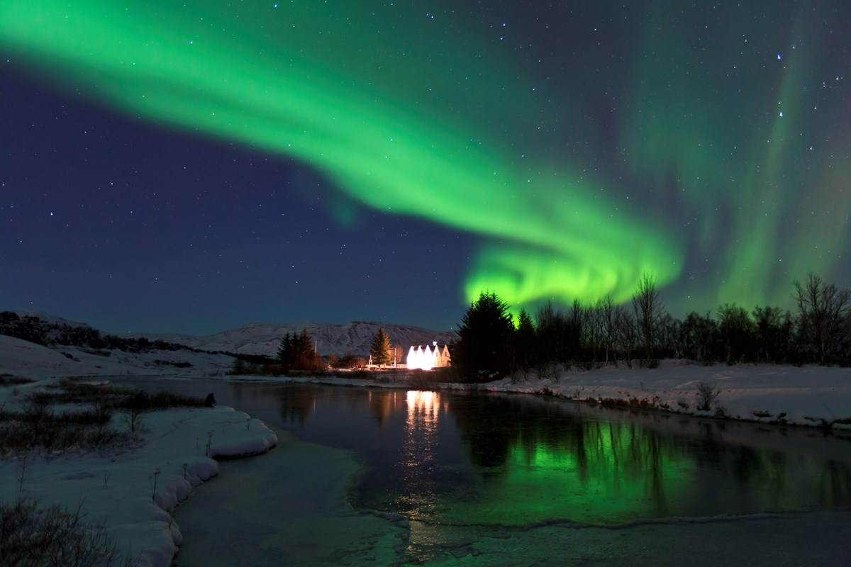 Thingvellir - northern lights